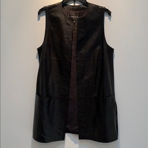 Lafayette 148 leather vest